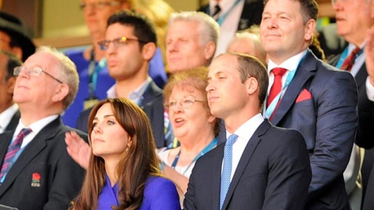 Unterkühlt und unglücklich wirkten William und Kate bei der Rugby WM in London. (Foto)
