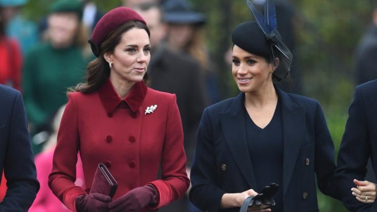 Der Schein trügt: Zwischen Kate Middleton und Meghan Markle wollte sich partout keine innige Freundschaft entspinnen.