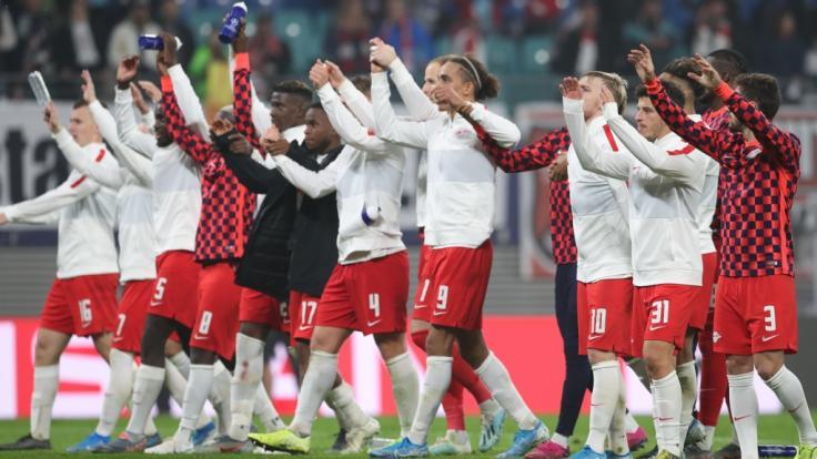 Champions League: RB Leipzig bejubelt 2:1-Sieg gegen Zenit Sankt Petersburg (Foto)