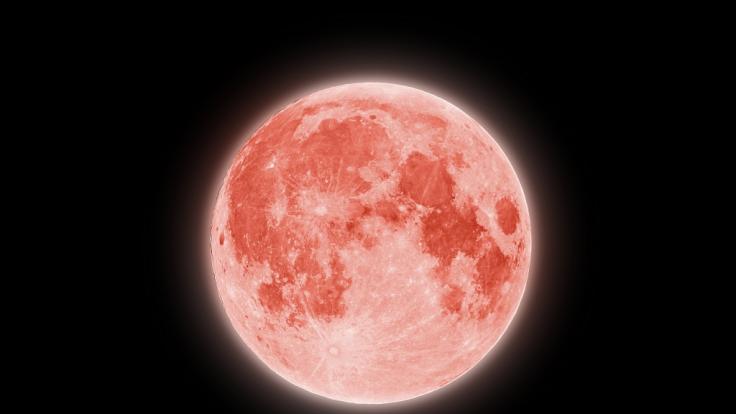 Im Juni leuchtete der Vollmond als Strawberry Moon am Himmel. (Foto)