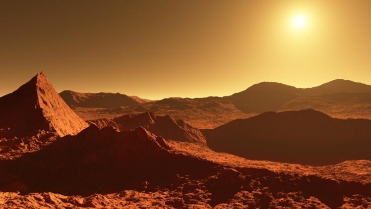 Gibt es etwa doch Leben auf dem Roten Planeten? (Symbolbild)