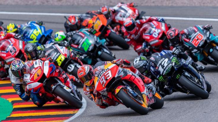 Die Motorrad-WM der MotoGP, Moto2 und Moto3 macht am Wochenende vom 18. bis 20. Juni 2021 Station am Sachsenring zum Großen Preis von Deutschland. (Foto)