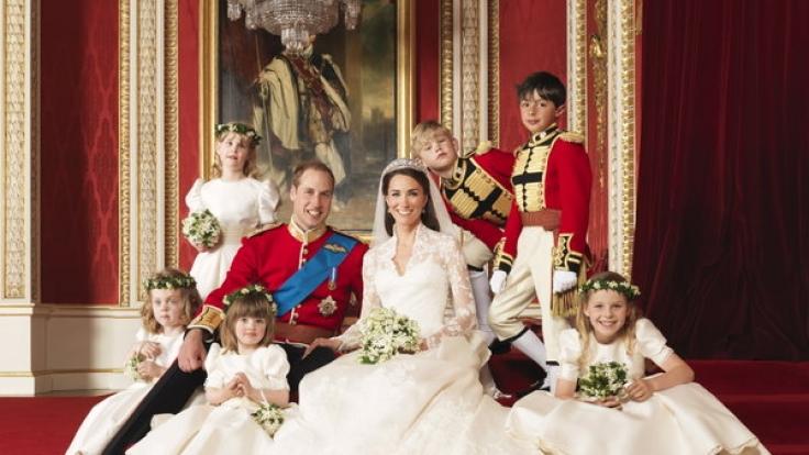 Herzogin Catherines Hochzeitskleid war ein Traum in Weiß.