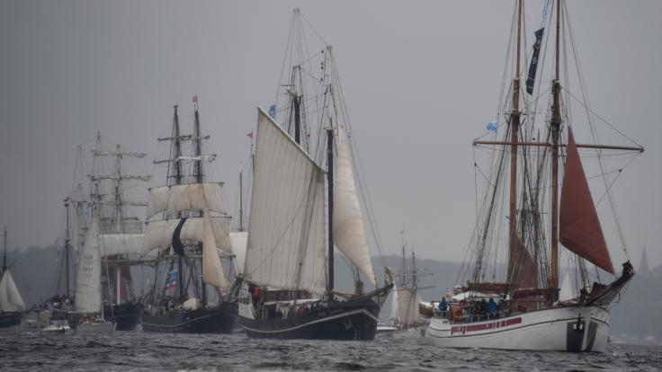 Die Windjammerparade ist eines der Highlights bei der Kieler Woche.