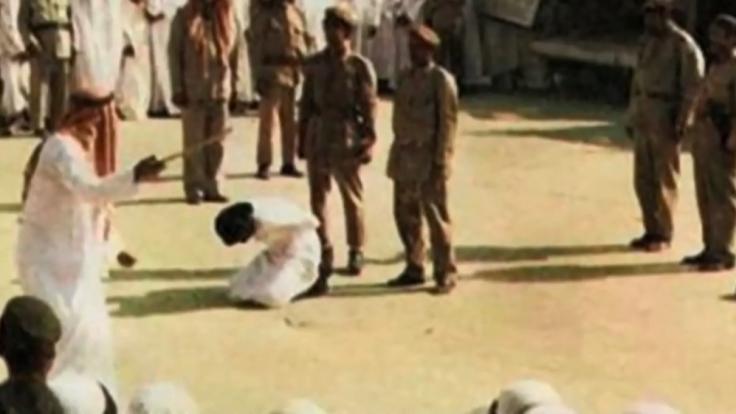 Eine Hinrichtung mit dem Schwert läuft in Saudi-Arabien so ab. (Foto)