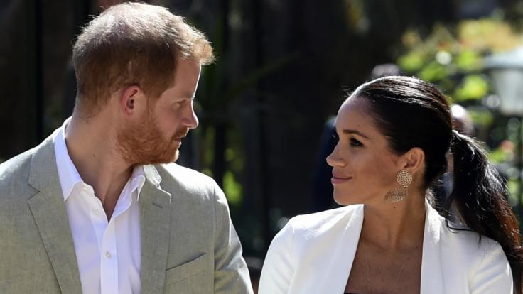 Prinz Harry hat sich mit der schwangeren Herzogin Meghan einen Scherz erlaubt. (Foto)