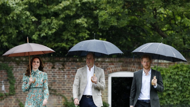 Kate Middleton, Prinz William und Prinz Harry gedenken der verstorbenen Prinzessin Diana an ihrem 20. Todestag. (Foto)