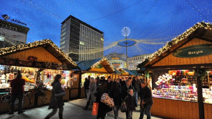 Terror-Gefahr in Europa: Die USA warnen ihre Bürger derzeit vor Anschlägen, die auch auf Weihnachtsmärkten stattfinden könnten. Hier ein Weihnachtsmarkt in Essen. (Foto)