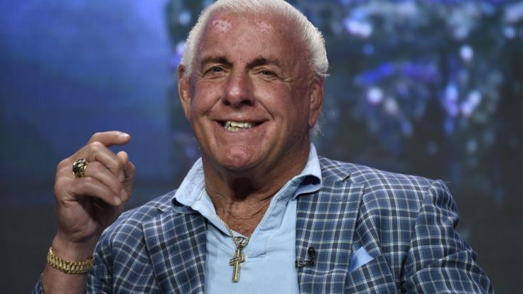 Wieder Teil einer verrückten WWE-Storyline: Ric Flair. (Foto)