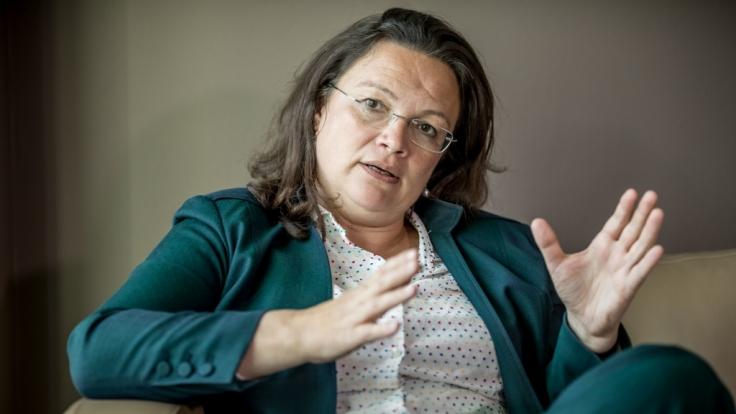 Andrea Nahles ist die neue Powerfrau an der SPD-Spitze. (Foto)