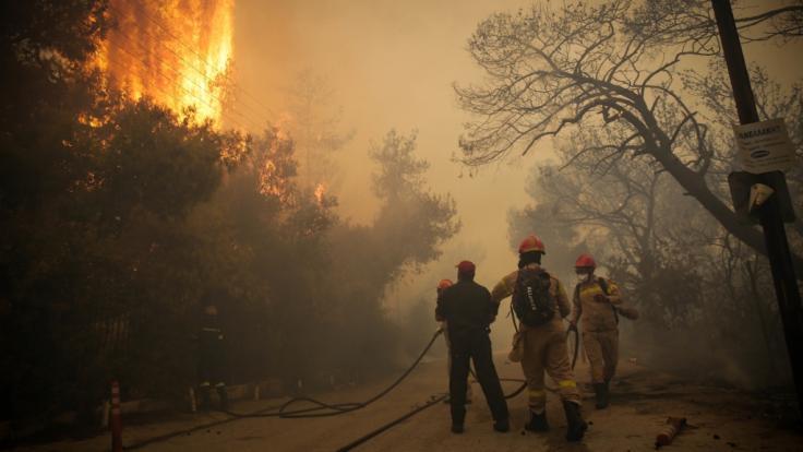 Mindestens 74 Menschen sind bei den außer Kontrolle geratenen Waldbränden nahe Athen ums Leben gekommen. Mehr als 150 Menschen wurden verletzt.