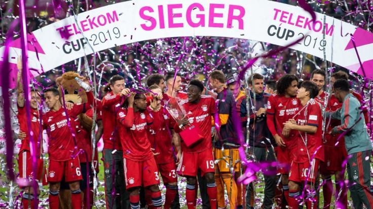 Die Bayern haben zum fünften Mal den Telekom Cup gewonnen. (Foto)