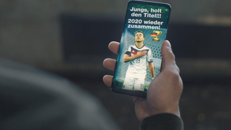 Diese Botschaft in dem Werbeclip