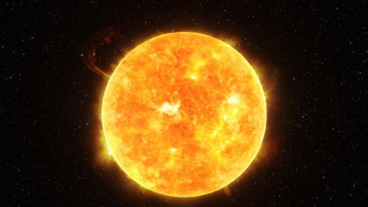 Ein Sonnenwind trifft die Erde. (Foto)