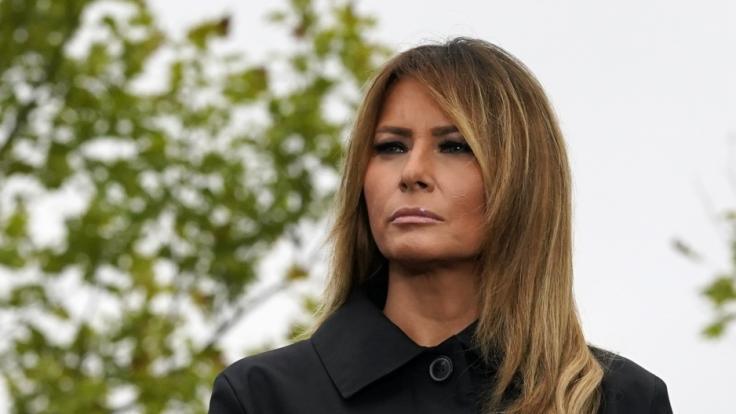 Melania Trump hüllte sich beim Treueschwur in Schweigen. (Foto)