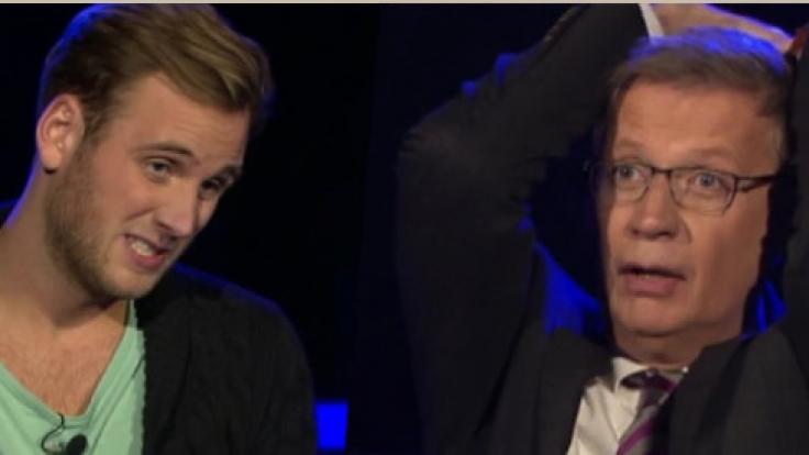 Jauch fiebert mit: Kandidat Leon zockt bei 500.000 Euro. (Foto)