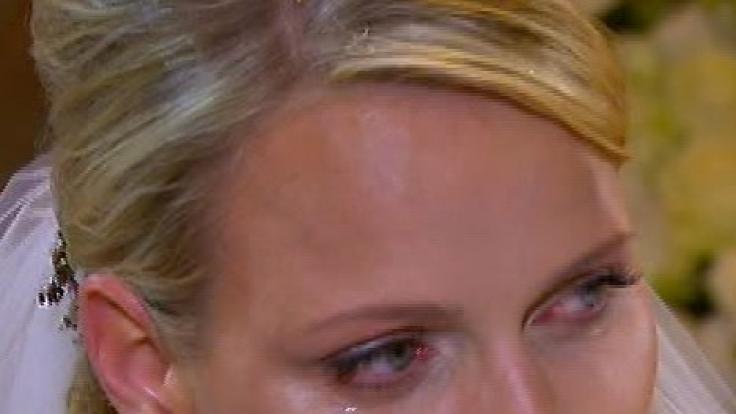 Zwei Ja und viele Tränen:Charlene weinte nach der Trauung - vor Glück, vor Rührung oder vor Skepsis?