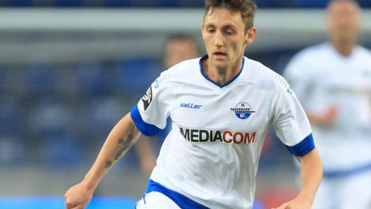 Paderborns Christian Bickel muss mit seinem Verein am Freitag gegen Meppen antreten.