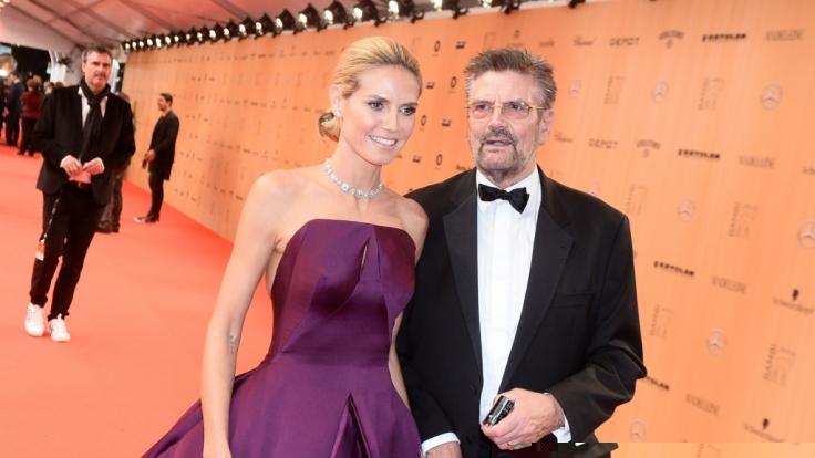 Model Heidi Klum und ihr Vater Günther. (Foto)