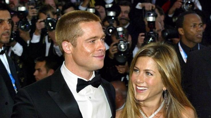 Brad Pitt und Jennifer Aniston in Pre-Angelina-Jolie-Tagen. (Foto)