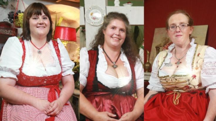 Beim traditionellen Scheunenfest zeigen die Liebesanwärterinnen, was sie zu bieten haben.