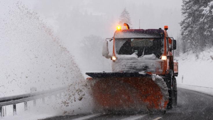 Wintereinbruch in Süddeutschland. (Foto)