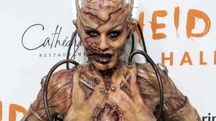 Heidi Klum, Model, Moderatorin und TV-Produzentin, ging in diesem Jahr als Grusel-Alien verkleidet zu ihrer Halloween-Party. (Foto)