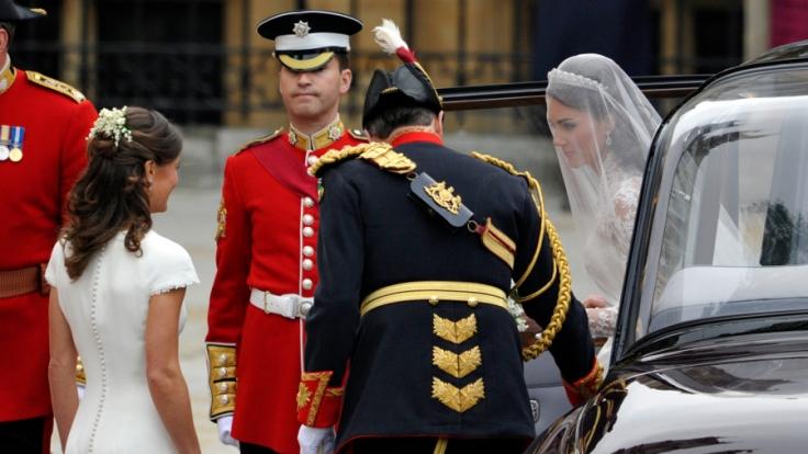 Der Tag, an dem der Hype begann. Pippa Middleton als Brautjungfer auf der Hochzeit ihrer Schwester Catherine am 29. April 2011.