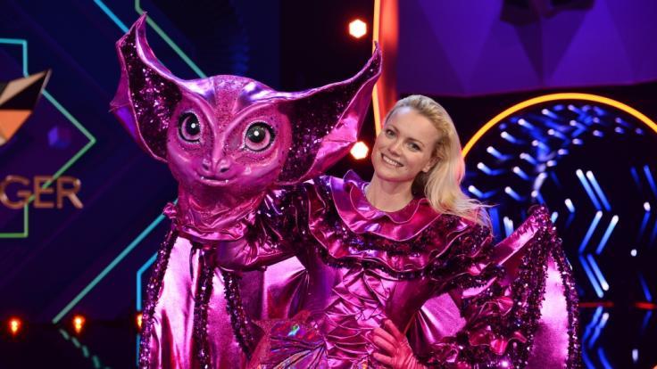 """Wurde in der zweiten Live-Show von """"The Masked Singer"""" 2020 demaskiert: Model Franziska Knuppe als Fledermaus. (Foto)"""
