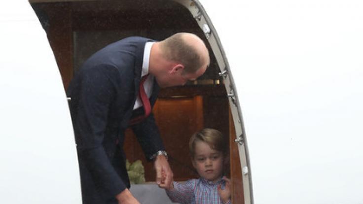 Prinz George hat offenbar so gar keinen Bock auf Menschen.