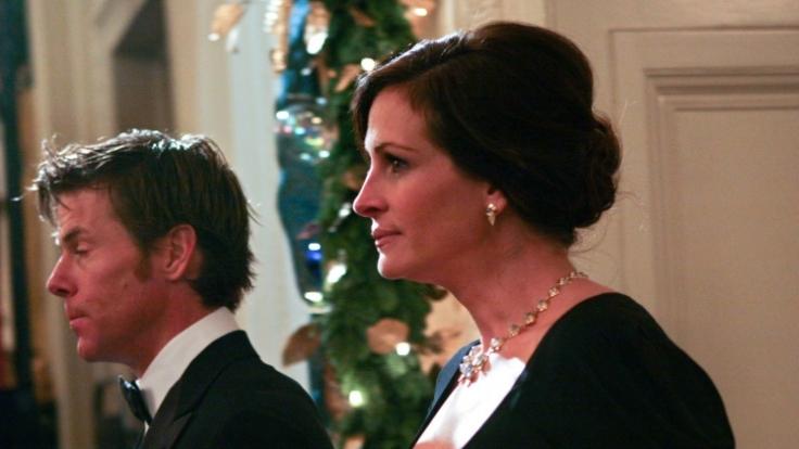 Julia Roberts und ihr Mann Daniel Moder 2010 im Weißen Haus.