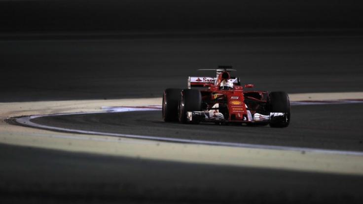 Sebastian Vettel beim Grand Prix von Bahrain am 16.04.2017 in as-Sachir.