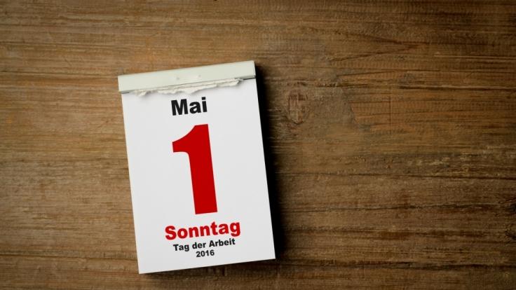 Feiertag: Der 1. Mai ist der Tag der Arbeit.