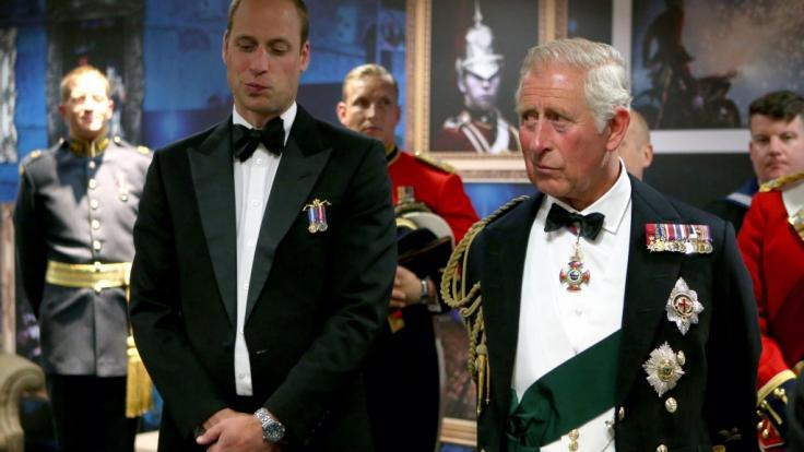 Prinz William hat seinen Vater Prinz Charles zu einem emotionalen Gefühlsausbruch bewegt. (Foto)