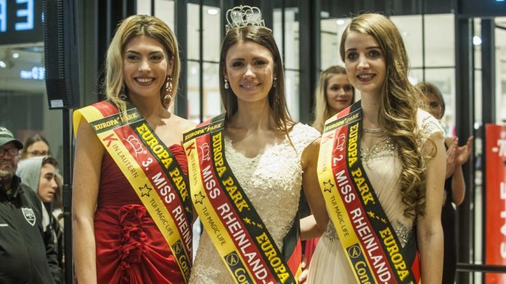 Christina Peno (links) gewann den dritten Platz bei der Wahl zur Miss Rheinland-Pfalz 2017.