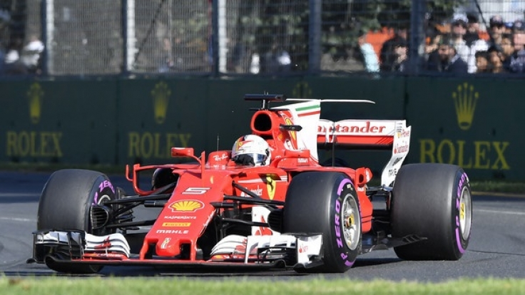 Sebastian Vettel vom Team Scuderia Ferrari am vergangenen Rennwochenende.