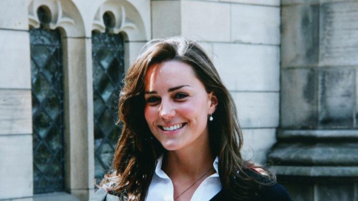 Kate Middleton am Tag ihrer Abschlussfeier 2005 im schottischen St. Andrews.