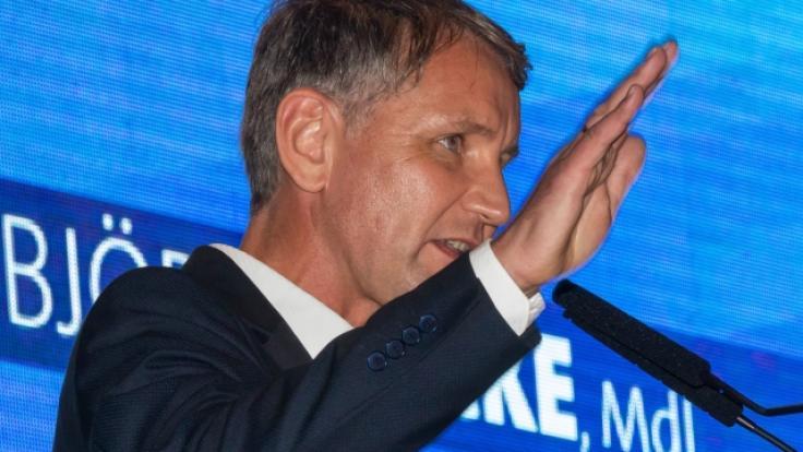 Landtagswahl Thüringen 2019: AfD-Fraktionsvorsitzender und Spitzenkandidat Björn Höcke beimWahlkampfauftakt