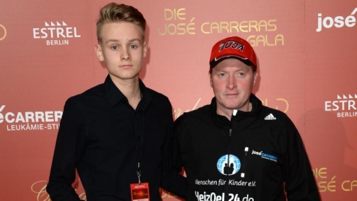 Joey Kelly und sein Sohn Luke Kelly bei der Jose Carreras Gala 2016 in Berlin. (Foto)