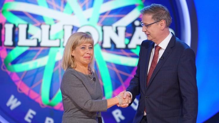 Kandidatin Bettina McFarland musste lange warten, um bei Günther Jauch und