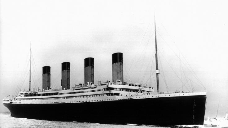 Der Luxusdampfer Titanic. (Foto)