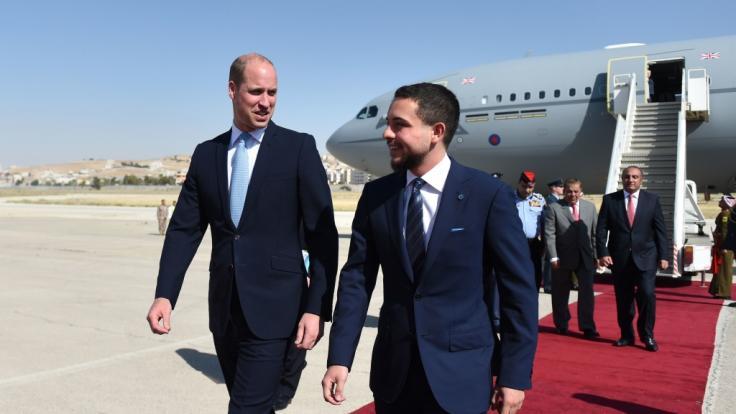 Prinz William weilt derzeit im Nahen Osten und stattete auch Kronprinz Hussein von Jordanien einen Besuch ab.