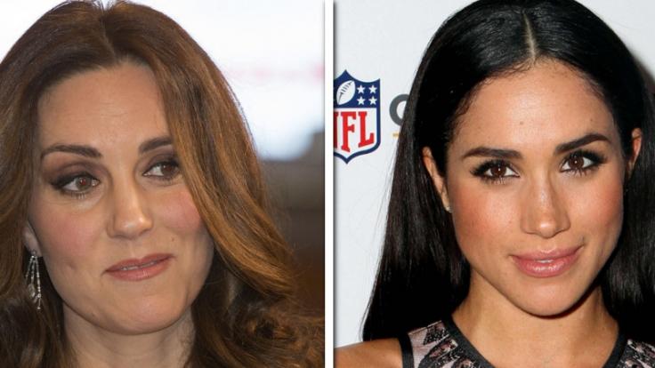 Meghan Markle (re.) und Kate Middleton werden 2018 ganz offiziell Schwägerinnen.