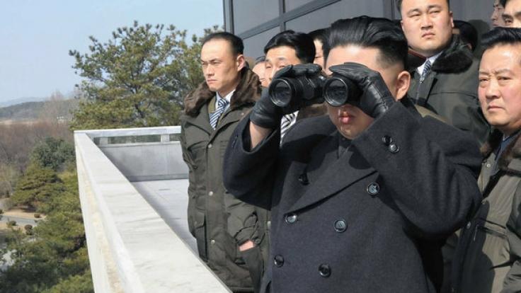 Kim Jong Un ist leidenschaftlich dabei, wenn Atomwaffentests stattfinden. (Foto)