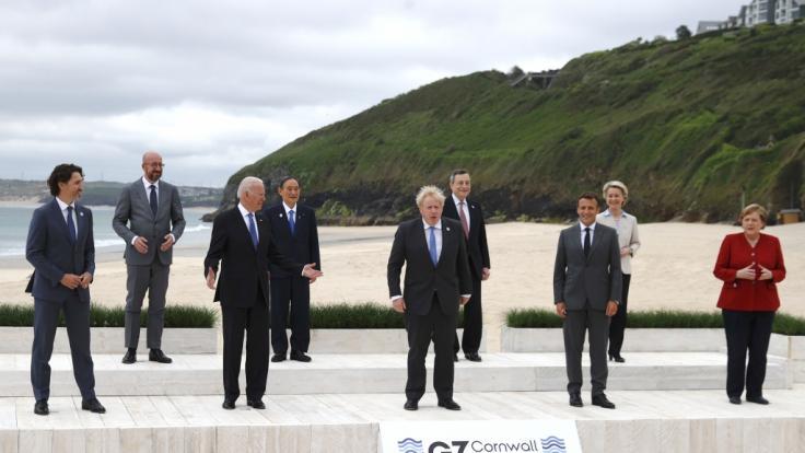 Die G7 in Cornwall. (Foto)