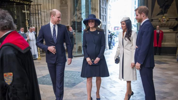 Prinz William, Herzogin Kate, Herzogin Meghan und Prinz Harry (Foto)