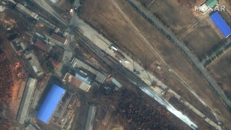Die Satellitenbilder legen bevorstehende Tests einer Interkontinentalrakete oder einer Weltraumrakete in Nordkorea nahe. (Foto)