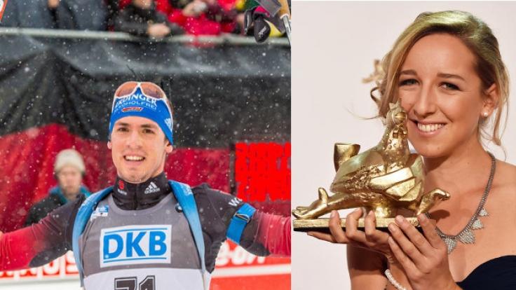 Schon seit über zwei Jahren ein Paar: Biathleten Simon Schempp und Franziska Preuß