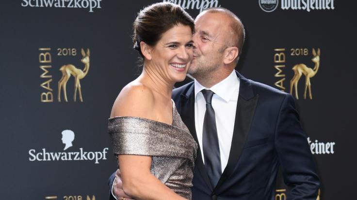 Heino Ferch mit seiner Frau Marie-Jeanette Ferch bei der 70. Bambi-Verleihung 2018. (Foto)
