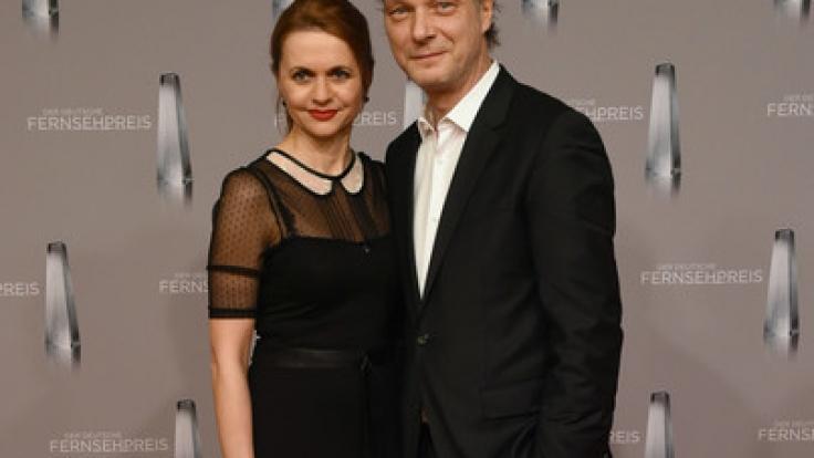 Schauspieler Martin Brambach mit Schauspielerin Christine Sommer.